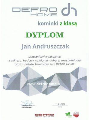 Certyfikat Defro
