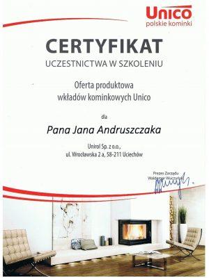 Certyfikat Unico